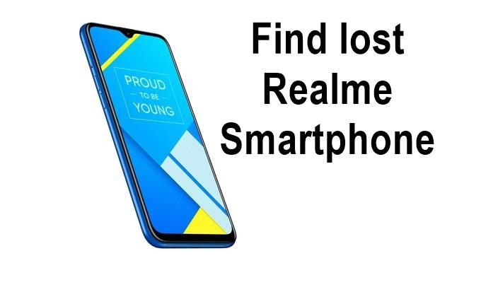find lost Realme Smartphone