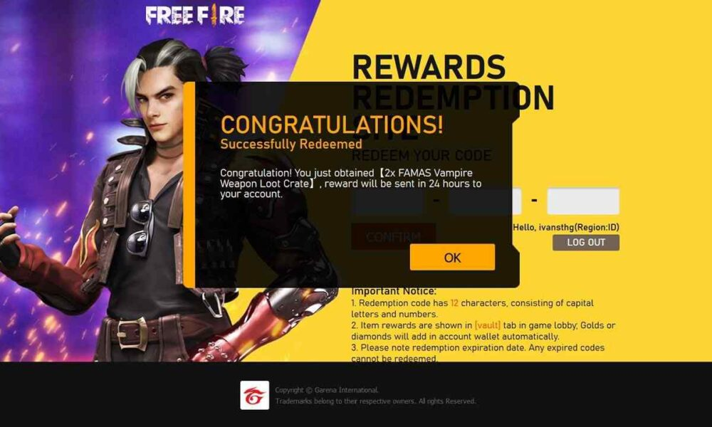 April 5] Garena Free Fire Redeem Code April 2021 » RM Update News